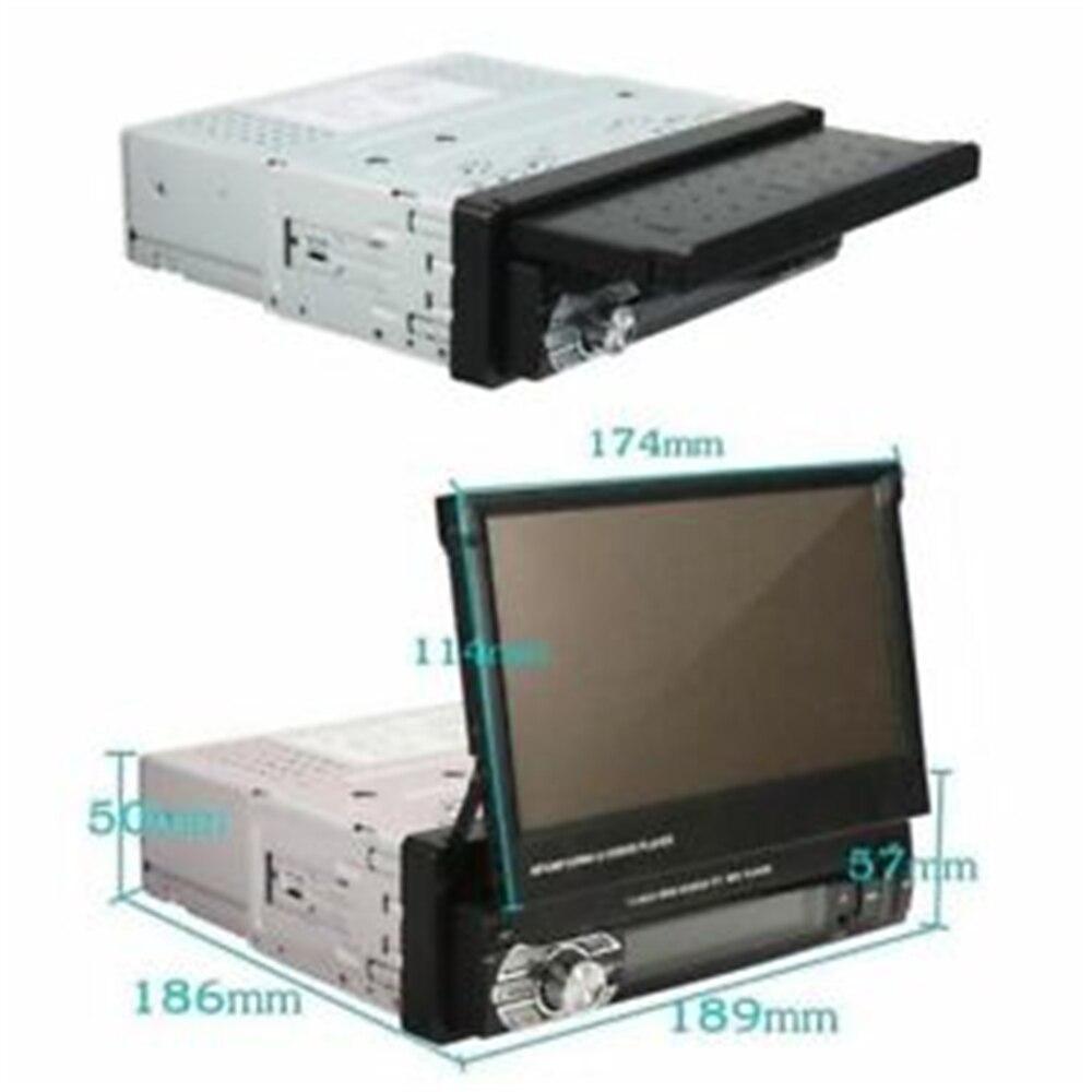 Hikity Podofo 1din reproductor de Radio MP5 para coche navegación GPS Multimedia Audio para coche estéreo Bluetooth 7 HD Cámara retráctil Autoradio - 3