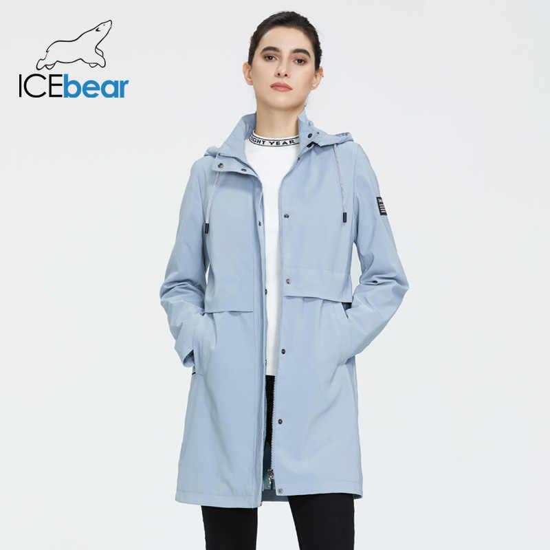 ICEbear 2020 Modische frauen windjacke hohe-qualität frauen graben mantel mit kapuze frauen frühjahr kleidung GWF20017i