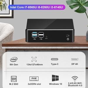 Image 4 - Mini PC 8th Generazione di Processori Intel Core i7 8565U 16GB DDR4 512GB M.2 SSD Finestre 10 HDMI DP 4K UHD 2.4/5.0G WiFi BT4.0 Tipo C 6xUSB