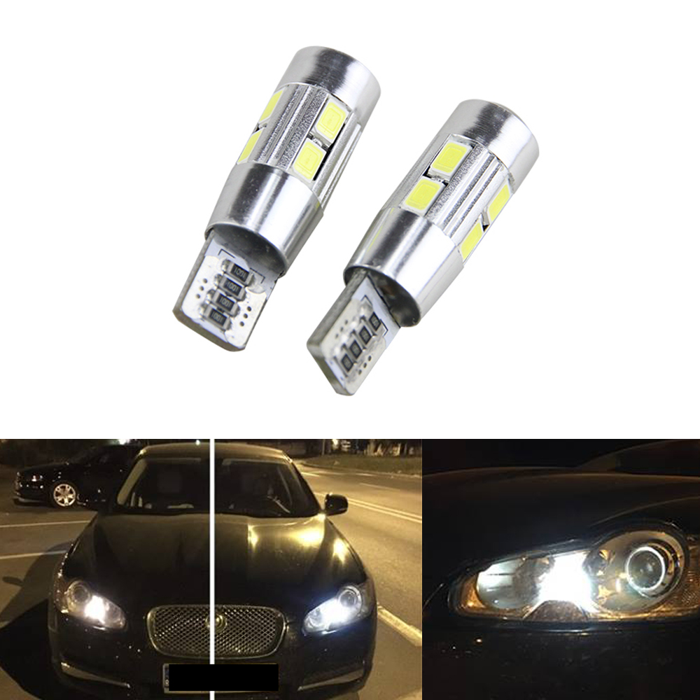 2x Canbus Error Free Car Wedge Light W5W T10 LED Auto Lamp Bulb For Jaguar XF X250 (2009)
