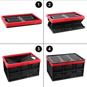 Image 5 - صندوق تخزين السيارة ، صندوق تخزين البضائع ، قابل للطي ، ملحقات داخلية متعددة الوظائف ، تصميم السيارة