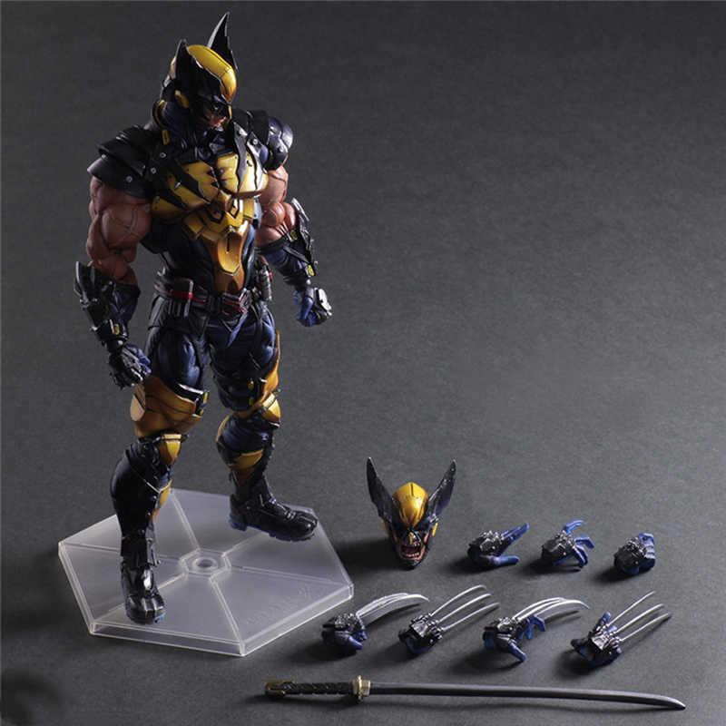 26cm סרט נוקמי לשחק אמנות קאי פעולה דמויות וולברין איש ברזל קפטן אמריקאי עכביש איש ברזל איש באטמן דמויות צעצועי בובה