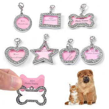1PC Pet Anti-lost Identity Tag w kształcie kości spersonalizowane wygrawerować Pet Dog Cat ID Tag Pet nazwa własna Tag telefonu obroże losowy kolor tanie i dobre opinie CN (pochodzenie) Zinc Alloy Wholesale Dropshipping