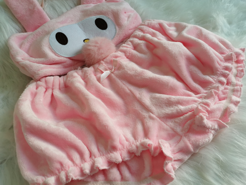 H487b9336fb08499c9538f552beea0972b Cinnamoroll My Melody Clothes Sexy Cute Lovely Bunny Girl White Pink Anime Cospaly Kawaii Christmas Lingerie Outfits for Women