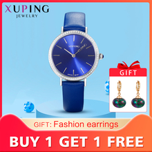 Xuping White Trendy Synthetic Cubic Zirconia Watch Women Round Shaped Romantic L