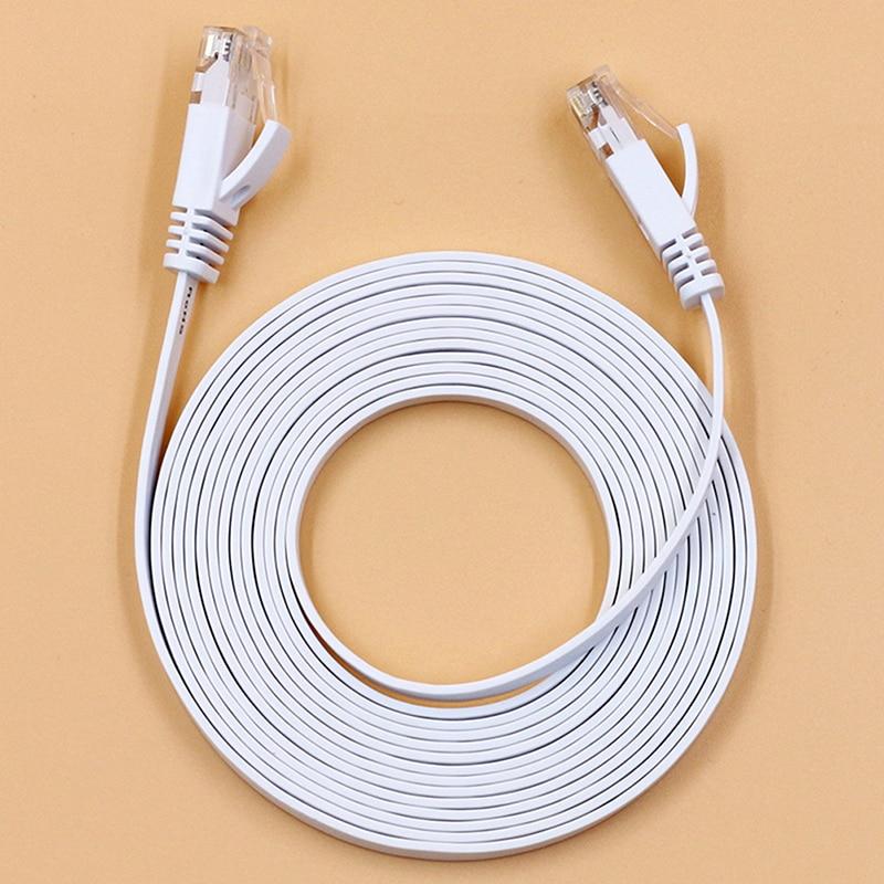 1000 м белый 0,5 м, 1 м, 2 м, 3 м, 5 м, 8 м, 10 м, 15 м кабель RJ45 CAT6 сети Ethernet плоский кабель для локальной сети UTP патч маршрутизатор кабели
