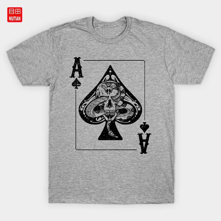 Skull and Snake Ace of Spades Poker fan gift T-Shirt Casino Cards Poker Player Hearts Clubs Spades Playingcards Playing Cards