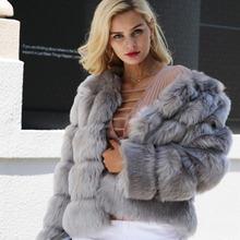 Жилет без рукавов из искусственного меха зимние толстые пальто