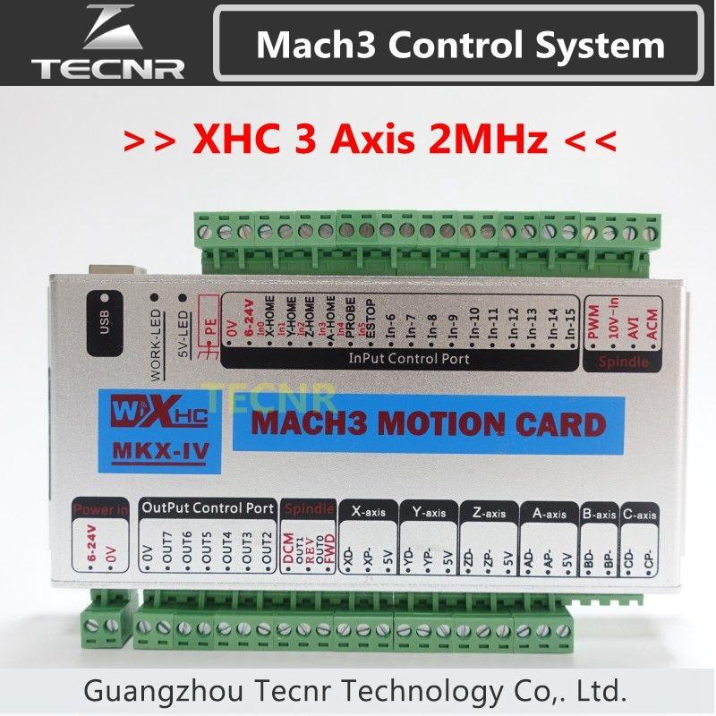 Tarjeta de control XHC MK4 Mach3 Tarjeta de control de movimiento USB de 3 ejes 2MHz compatible con Windows 7,10