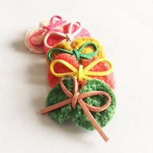 1 Pcs/lot Fashion Boutique Bows With Clip kids Girls Retro Belt Knitted Bow Hairpins Kids Hair Accessories цена