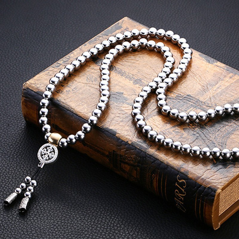 WorthWhile Tactical Buddha Beads Bracelet EDC Outdoor Tools Self-Defense Protection Survival Necklace Chain Whip Dropshipping