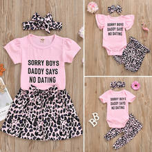 Focusnorm 2020 New Fashion Sister Matching Baby Girl Romper Tops Shorts Pants Dress Leopard Print Outfit(China)