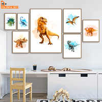 Tyrannosaurus Rex Dinosaur Park Baby Nordic Posters And Prints Wall Art Canvas Painting Wall Pictures For Kids Room Decor
