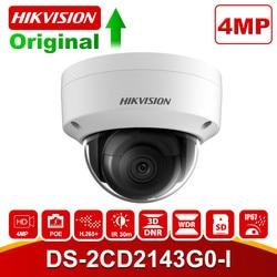 Hikvision 4MP Dome kamera IP CCTV POE DS 2CD2143G0 I CMOS IR bezpieczeństwa sieci wersja nocna kamera H.265 z gniazdo kart SD IP 67 w Kamery nadzoru od Bezpieczeństwo i ochrona na
