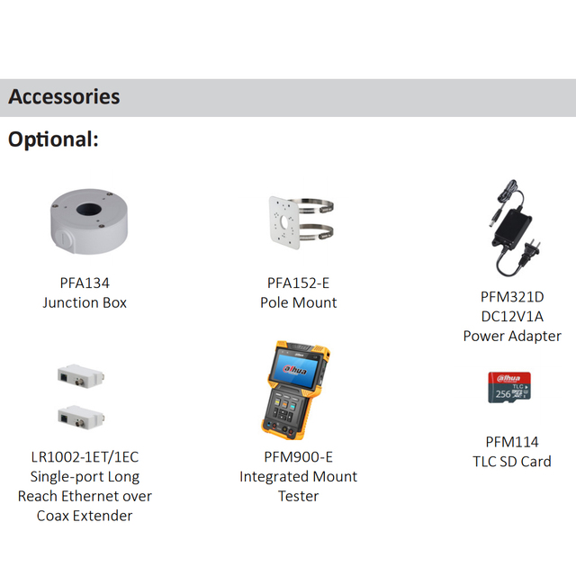 Dahua-caméra IP POE 8 mp 4K POE   Fente de carte SD H.265 + IVS Onvif IP67, Mini caméra IP réseau à puces,