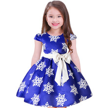 Christmas Snowflake Dresses For Baby Kids Girls