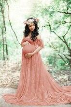 Nowa koronkowa dla przyszłej mamy suknie sukienka na sesja zdjęciowa sukienka ciążowa ciąża sukienka fotografia rekwizyty