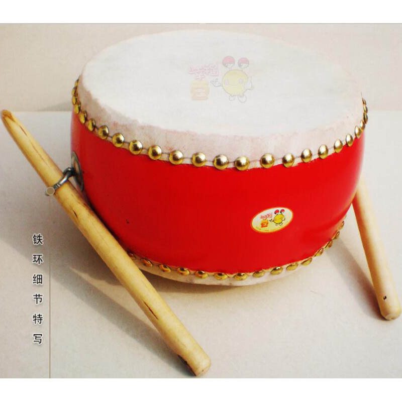 Wooden First Layer Niu Pi Gu Orff Drum Tupan Flat Drum 8-Inch Side Drum Children Drums Kids' Baby Music Drum