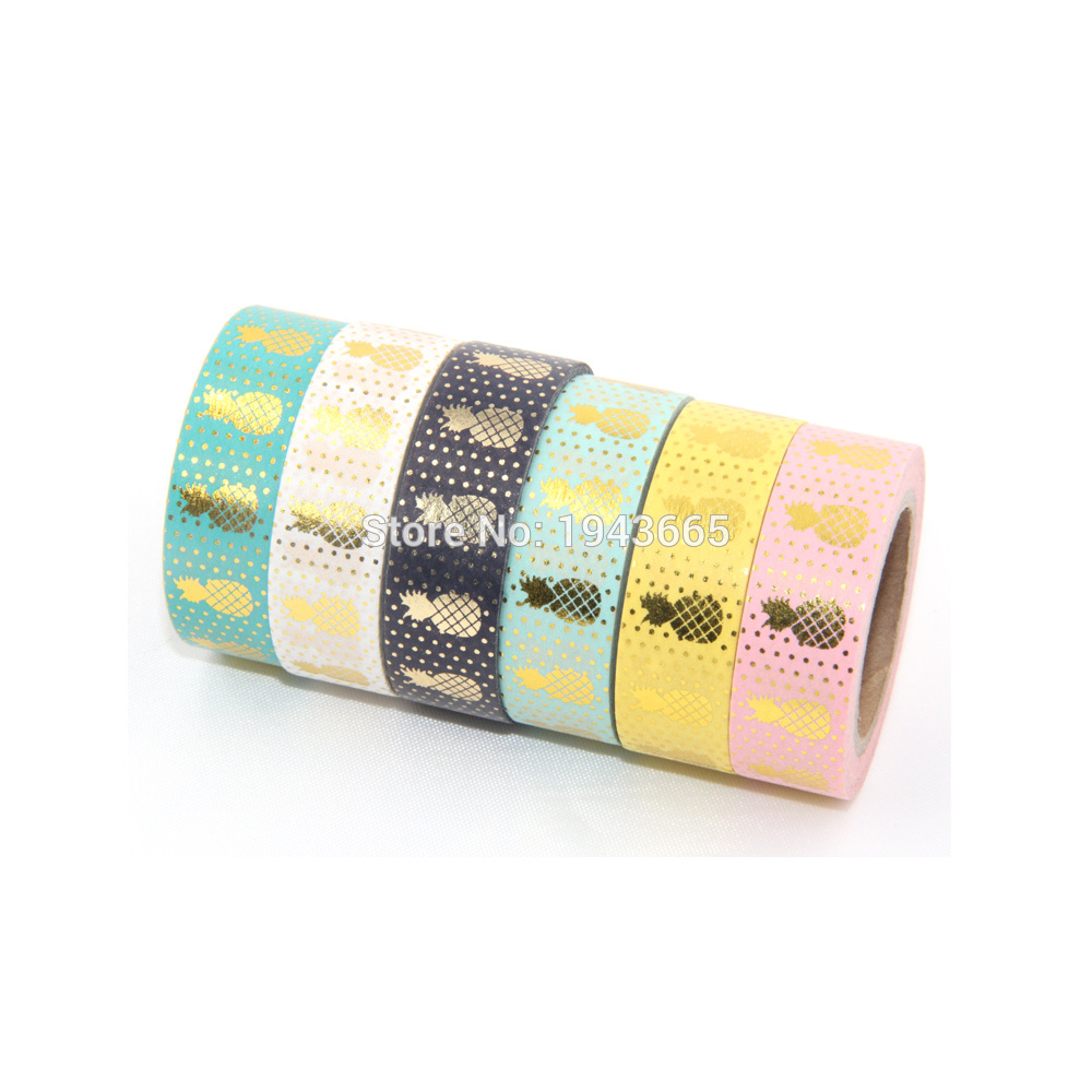 Купить с кэшбэком 30pcs/lot New 15mmx10m Japanese Washi Tape DIY Masking Tape Foil Washi Tape Set Scrapbooking Adhesive Masking Tape Stickers
