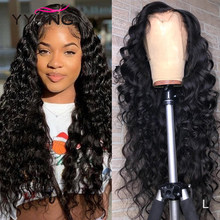 YYong 13X4 Lace Front Human Hair Wig 26 28 30inch Remy Brazilian Loose Deep 4x4 Lace Closure Human Hair Wig Pre Plucked
