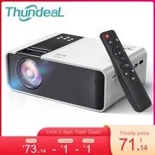 ThundeaL Мини-проектор для смартфона TD90 HD 1280 x 720P пикселей LED Android Wi-Fi проектор для дома 3D кинопроектор Новогодний проектор