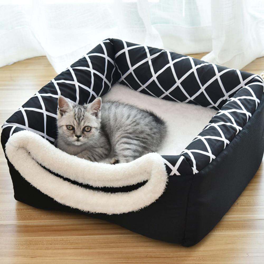 Кошачья кровать питомник для питомцев, зимний, теплый кошка спальный гнездо мягкая путешествия Портативный домашнего питомца коврик для до...