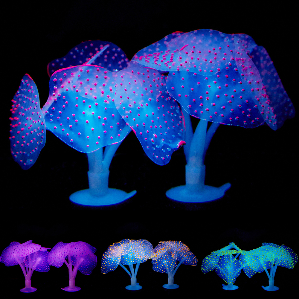 Aquarium Multi Colors Fish Tank Decoration Artificial Simulation Coral Silicone Plant Underwater Landcape Decor Accessories D40
