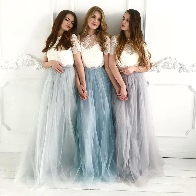 New Arrival Sweet Tulle Bridesmaid Dresses Dress Women for Wedding Party Plus Size Lace Bridesmaid Dresses Vestidos