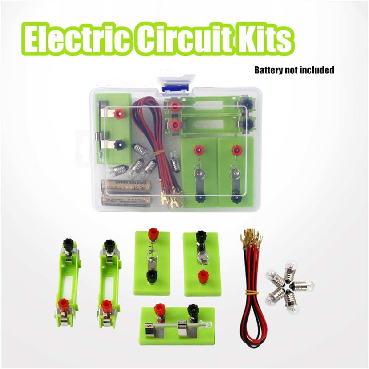 Kids Children Electric Circuit Educational Toys Kit School Science Toys Discovery Intelligence Develop Learning Toy Light Switch
