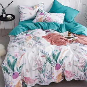 Svetanya Silkly Duvet Cover Set Luxury Egyptian Cotton Bed Linens Queen Size Bedding Set