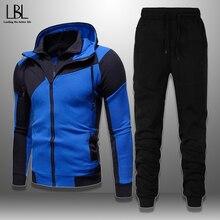 Fitness Clothing Tracksuit Jacket Sweatpants Men's Sportswear Hoodie-Sets Casual Brand Men