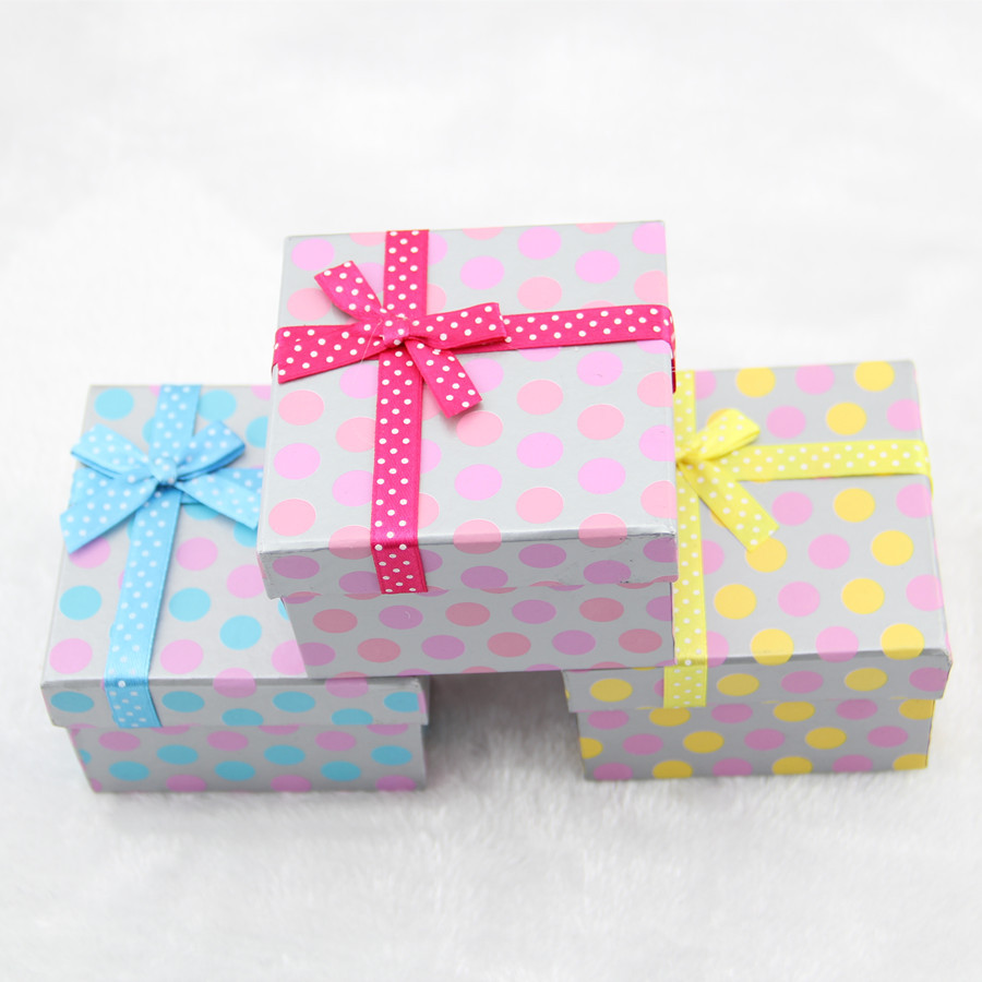 Dotted Print Watch Box Containing Mini Pillow Jewelry Packaging Ceremony Bracelet Box Jewel Case And Packing Box Jewelry Box