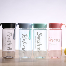 Simple Plastic Cup Outdoor Sports Portable Tea Water Cup Adult Student Large capacity Water Bottle Kitchen Gadgets