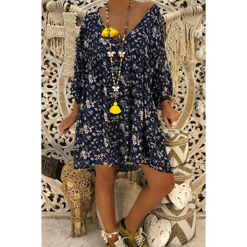 us veteran 2021 Women Dress Plus Size Dresses Women Loose dress Summer Style Feminino Vestido Casual Big Size Ladies Dress 8