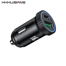 HKHUIBANG usb charger 3.0 car fast charger AFC SCP for iPhone 11 Pro Max /Xiaomi 9 /Huawei 30W PD