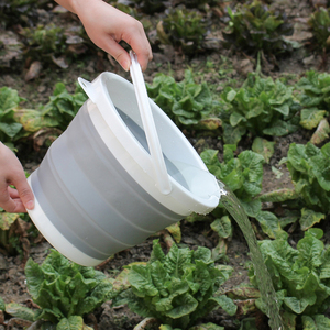 Image 5 - 10L Portable Folding Bucket Outdoor Fishing Tourism Camping Supplies Foldable Buckets Car/ Mop Washing Cleaning Household Items