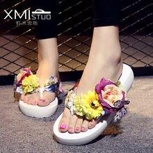Xmistuo pansy/Вьетнамки; Женская летняя пляжная обувь; Милые