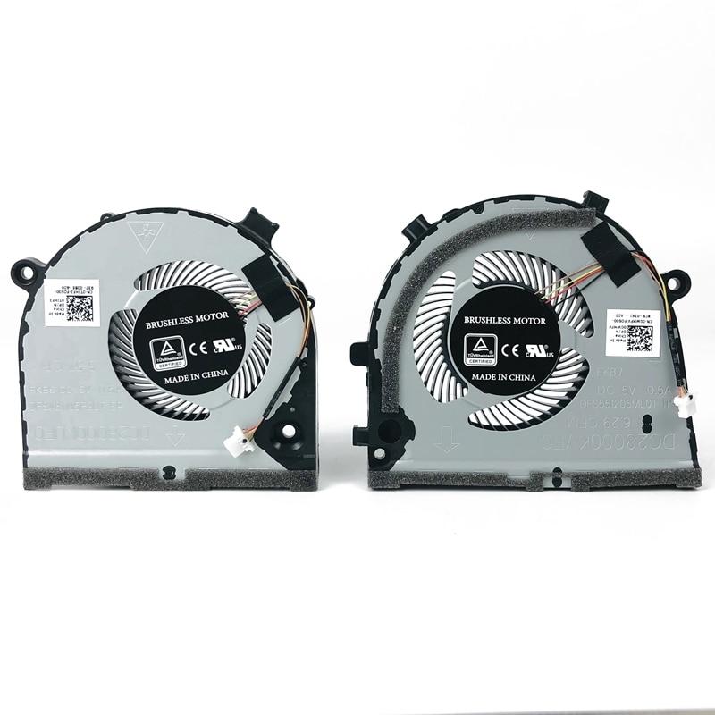 New Original Laptop CPU GPU Cooling Fan For Dell Inspiron Game G3 3579 3779 G5 5587 Cooler 0TJHF2 0GWMFV DFS481105F20T FKB6 FKB7
