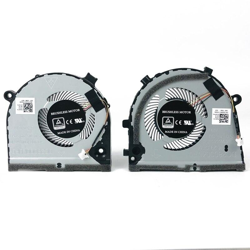 Novo original portátil cpu gpu ventilador de refrigeração para dell inspiron jogo g3 3579 3779 g5 5587 refrigerador 0tjhf2 0 gwmfv dfs481105f20t fkb6 fkb7