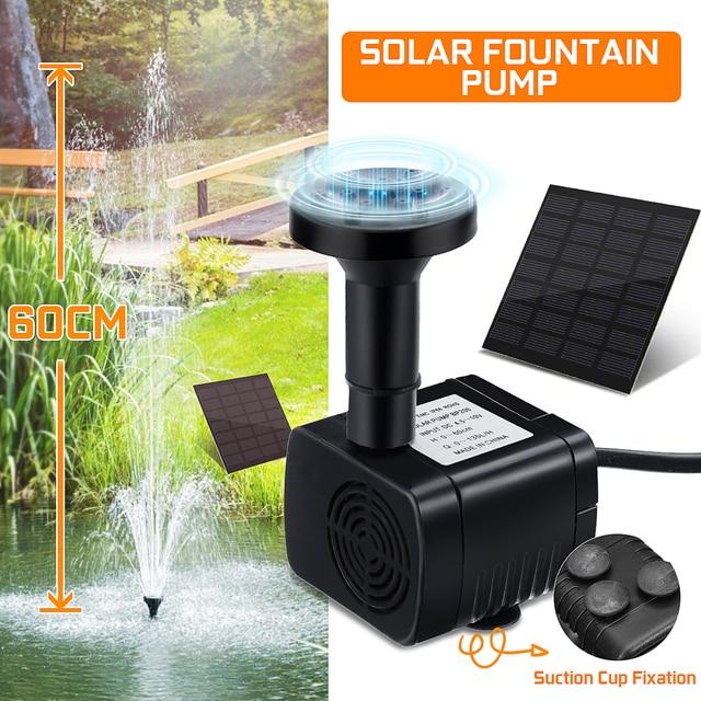 Solar Brunnen Wasserpumpe Panel Garten Teich Pool Tauch Bewässerung Kit X9F8