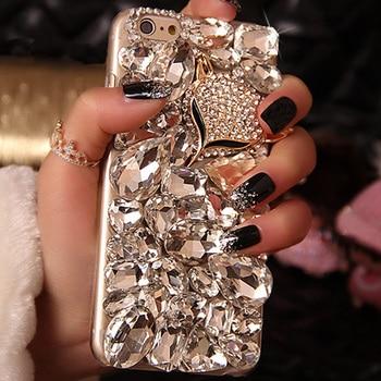 Sunjolly Fox Diamond Rhinestone Case Bling Phone Cover coque for Huawei Y9 Prime Y5 2019 Y6 Y7 Pro 2018 Y5 2017 V20 V10 V9 Cases