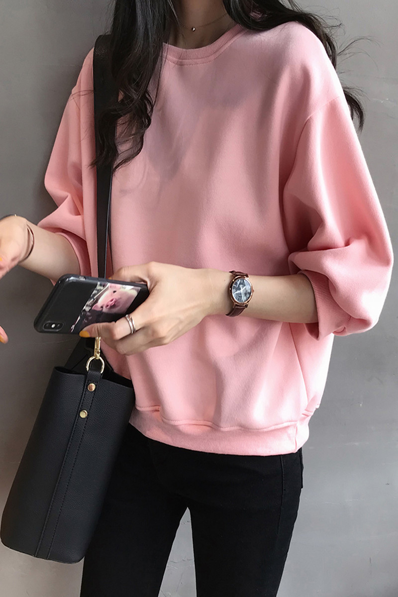 2020 Solid Color Sweatshirt Autumn And Winter Women's Sweatshirt Casual  Hoodie