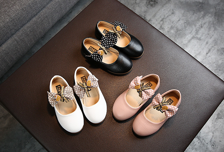 Детские мягкие кожаные туфли принцессы повседневная обувь на