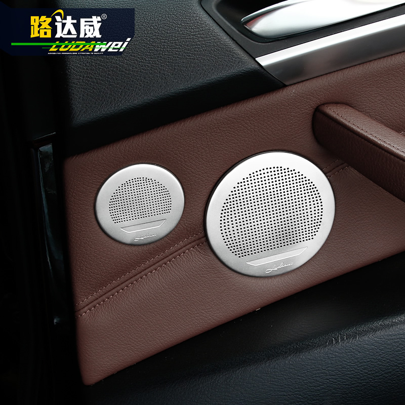 Car styling <font><b>Interior</b></font> 6pcs Door Speaker Sound Cover <font><b>Trim</b></font> For <font><b>BMW</b></font> X5 X6 <font><b>E70</b></font> E71 5Series GT x3 x4 2009-2017 image