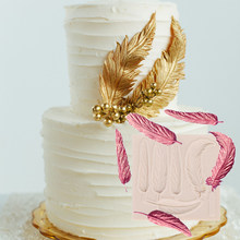 Перо силиконовая форма помадка впечатление помадки формы для сахара формы торта украшения торта инструмент Аксессуары для выпечки