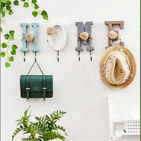 Wall Hanging Key Hooks Alphanumeric Wall Hanging Coat Wall Decoration Hanger Sundries Storage Hanger Hook Holder