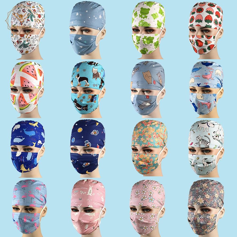 Nurse Accessories Operating Room Hat Medical Surgical Hat Sweat-absorbent Pet Hospital Doctor Work Hat Dental Clinic Nursing Cap