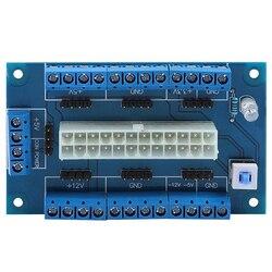24/20 Pin Atx zasilacz blat ławki moduł tabliczki zaciskowej przejściówka do komputera Pc