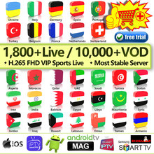 IPTV M3u France Subscription QHDTV Code Arabic Belgium Netherlands for Android Dutch Germany Portugal IP TV