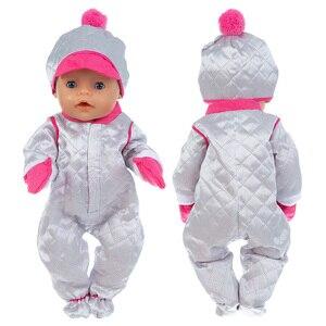 Новая шляпа + костюм, одежда, подходит для 17 дюймов, 43 см, кукла, Одежда для новорожденных, Детская кукла, платье для ребенка, подарок на день рождения